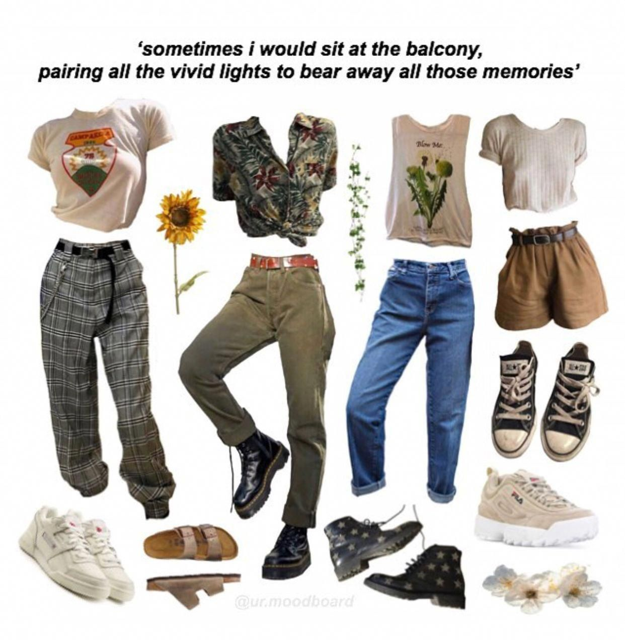 Pin Softflowers Grungeoutfits Retro Outfits Vintage Outfits Aesthetic Clothes