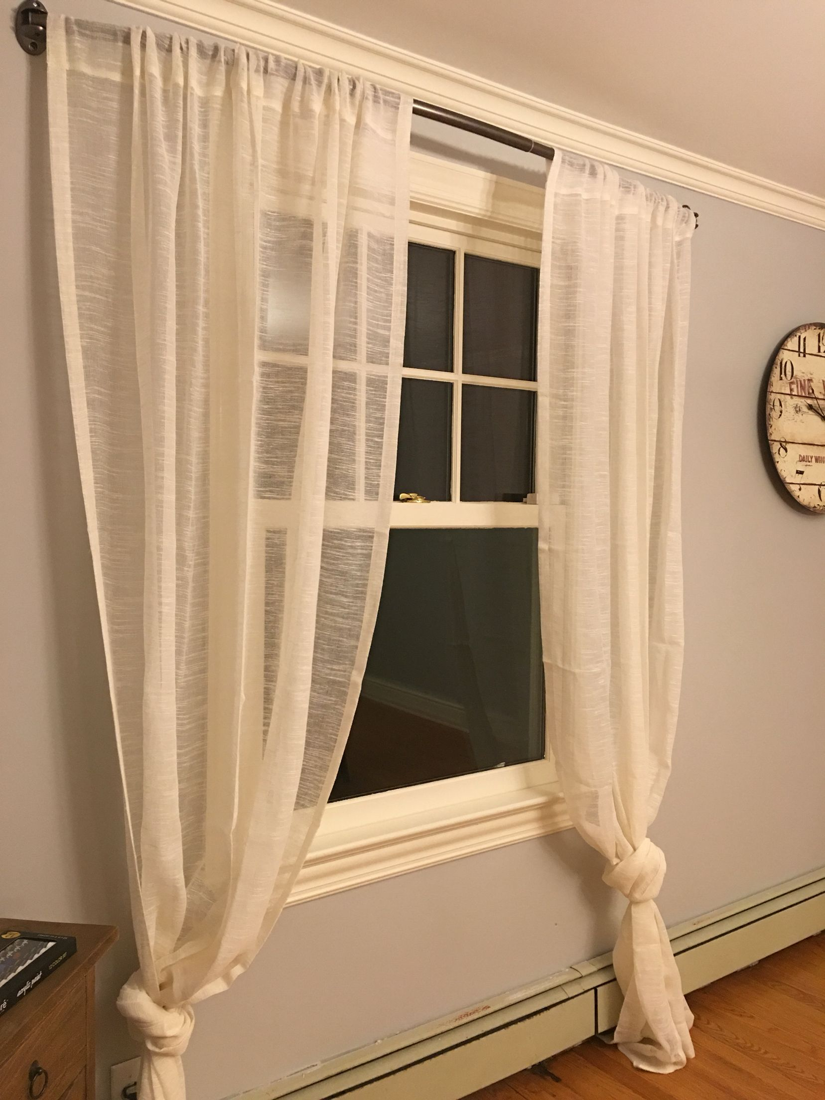 Curved Curtain Rod With Sheer Curtain Wall Color Harbor Gray