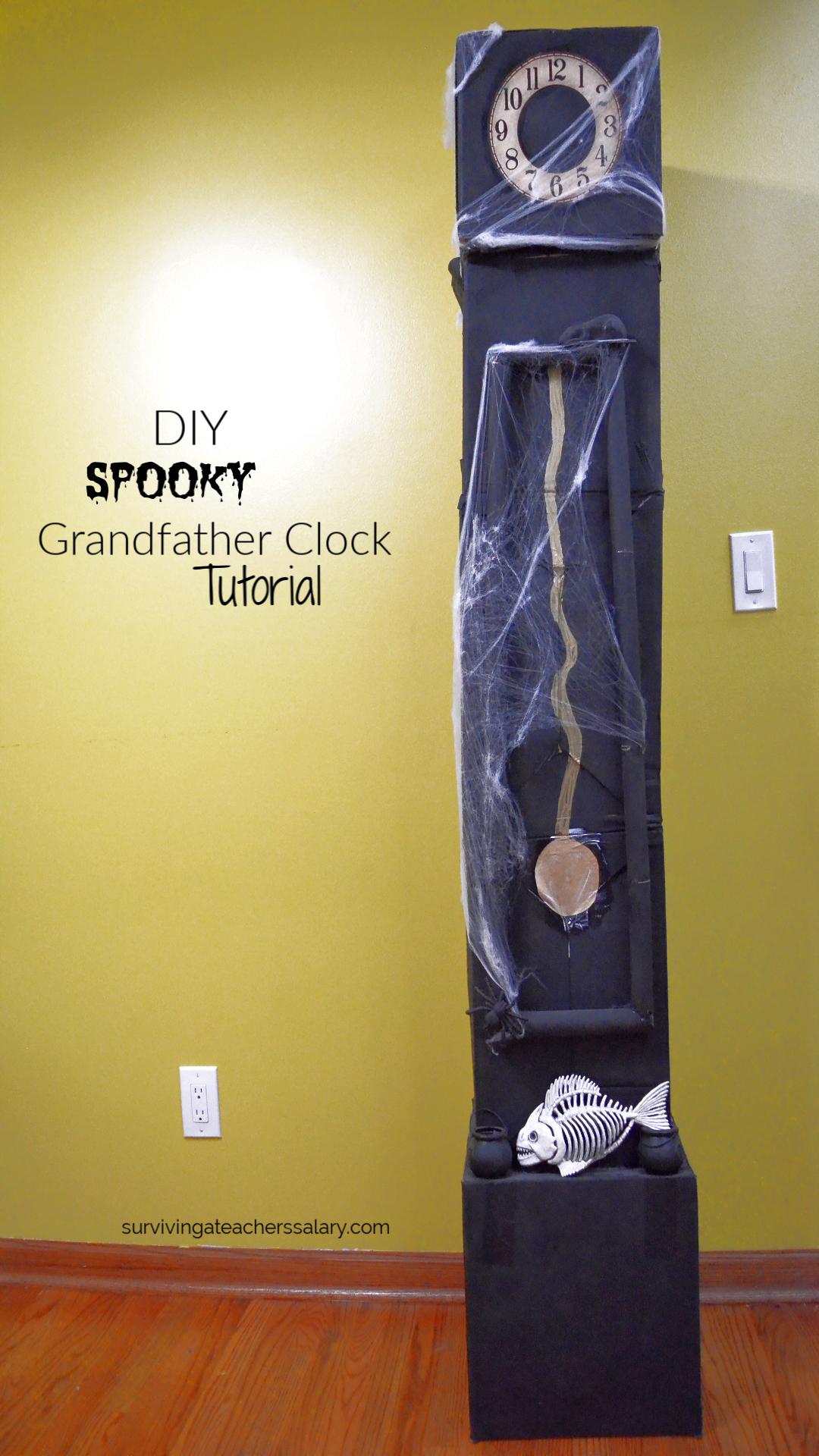 Cheap Halloween Decor Diy Halloween Clock From Cardboard
