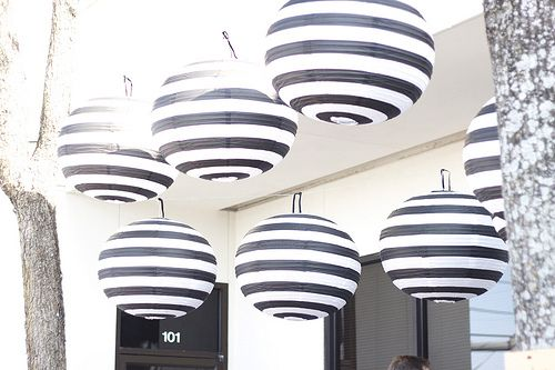 Black White Striped Paper Lanterns Need Immediately