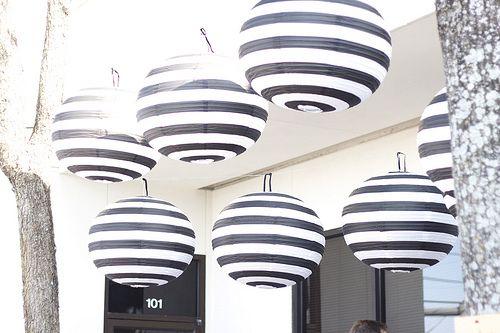 black & white striped paper lanterns. NEED IMMEDIATELY.