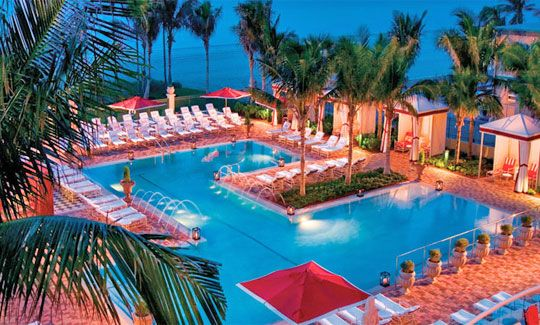 One Of The Four Pools At Acqualina Resort
