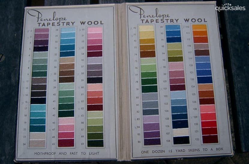 Penelope Wool Conversion Chart Vintage Penelope Tapestry Wool