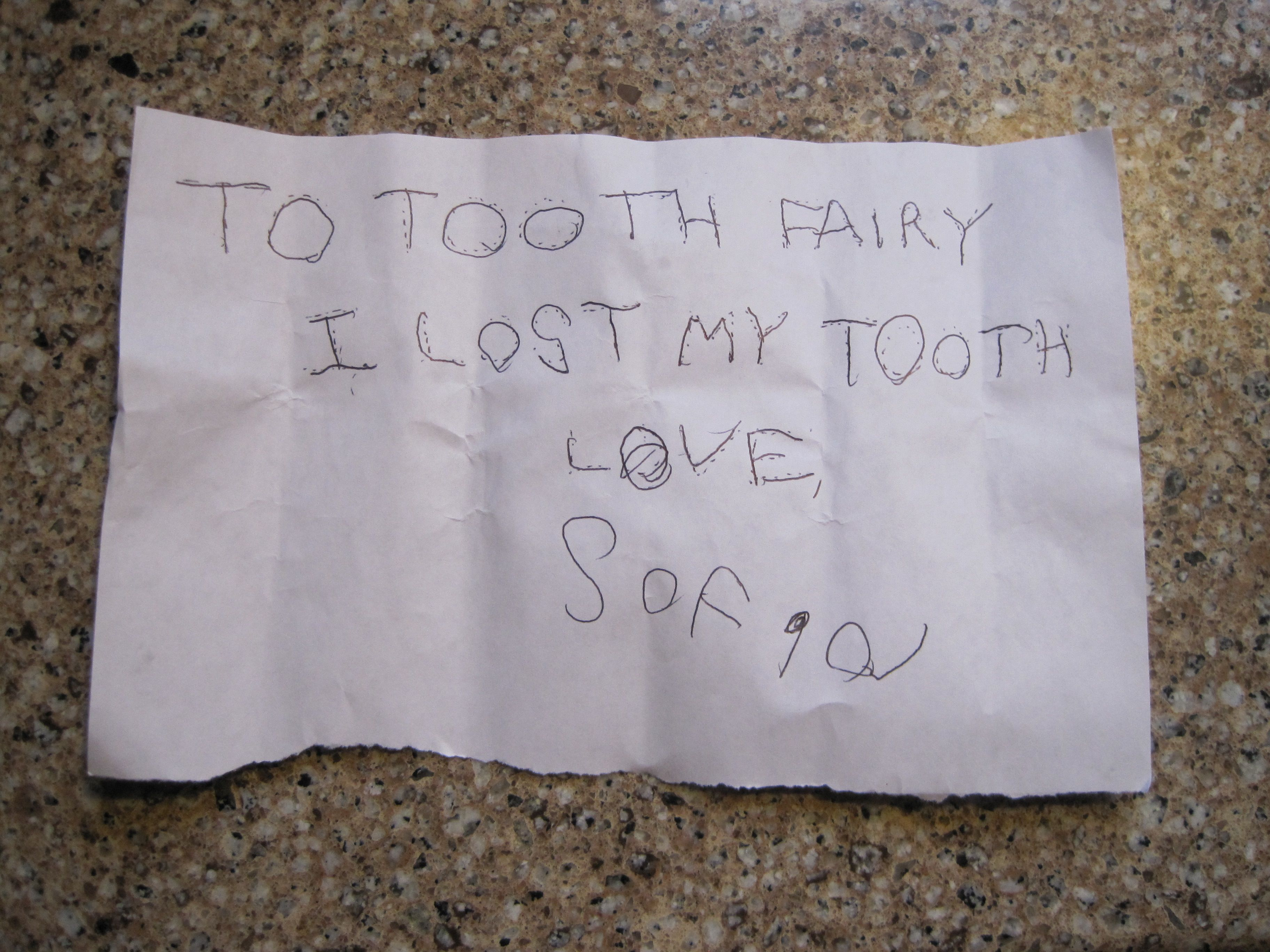 Tooth Fairy note. So cute! DeltaDental Tooth fairy