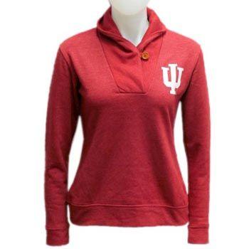 4d862cbce2 Red Shirt® Women s IU Shawl Neck Sweatshirt - Crimson