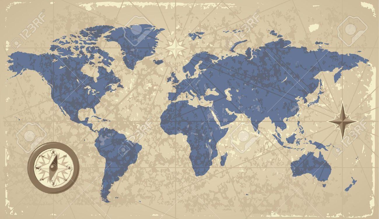 mapamundi vintage wallpaper Buscar con Google