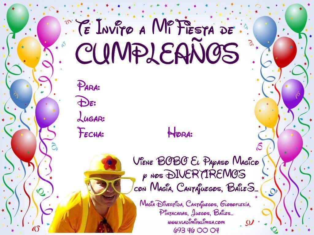Invitaciones De Cumpleaños En Ingles Para Enviar Por Mensaje