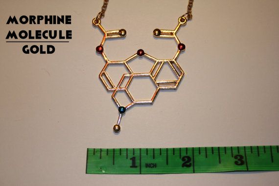 Morphine molecular formule necklace limited by MechaWolfCreative
