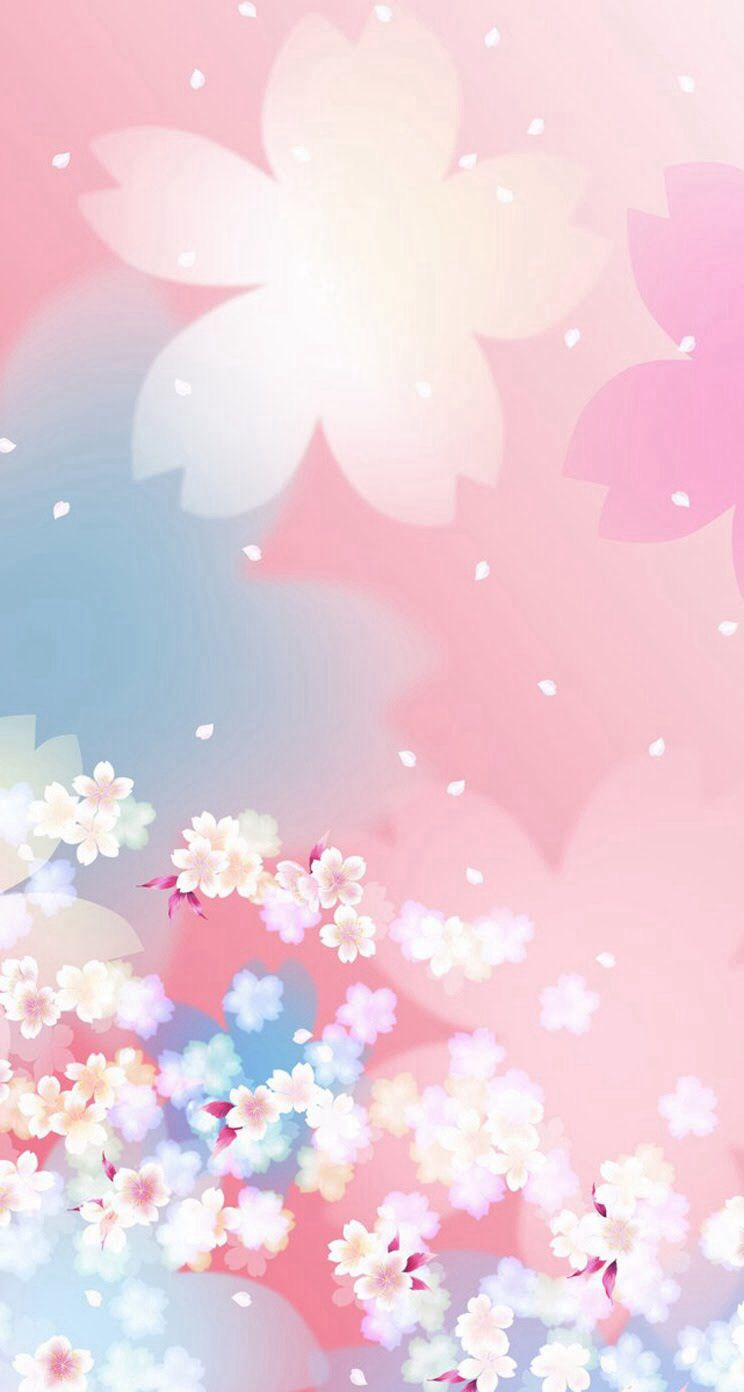 Pink flowers ios 8 wallpapers pinterest wallpaper and watercolor pink flowers mightylinksfo