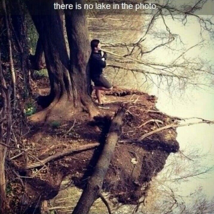 That's neat. Bet it'll take a few minute for you to really see what it is! There's no lake in the photo