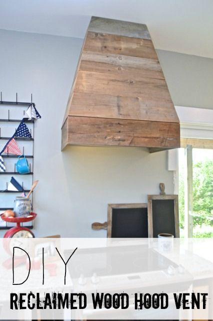 DIY Barnwood Vent Hood   NewlyWoodwards