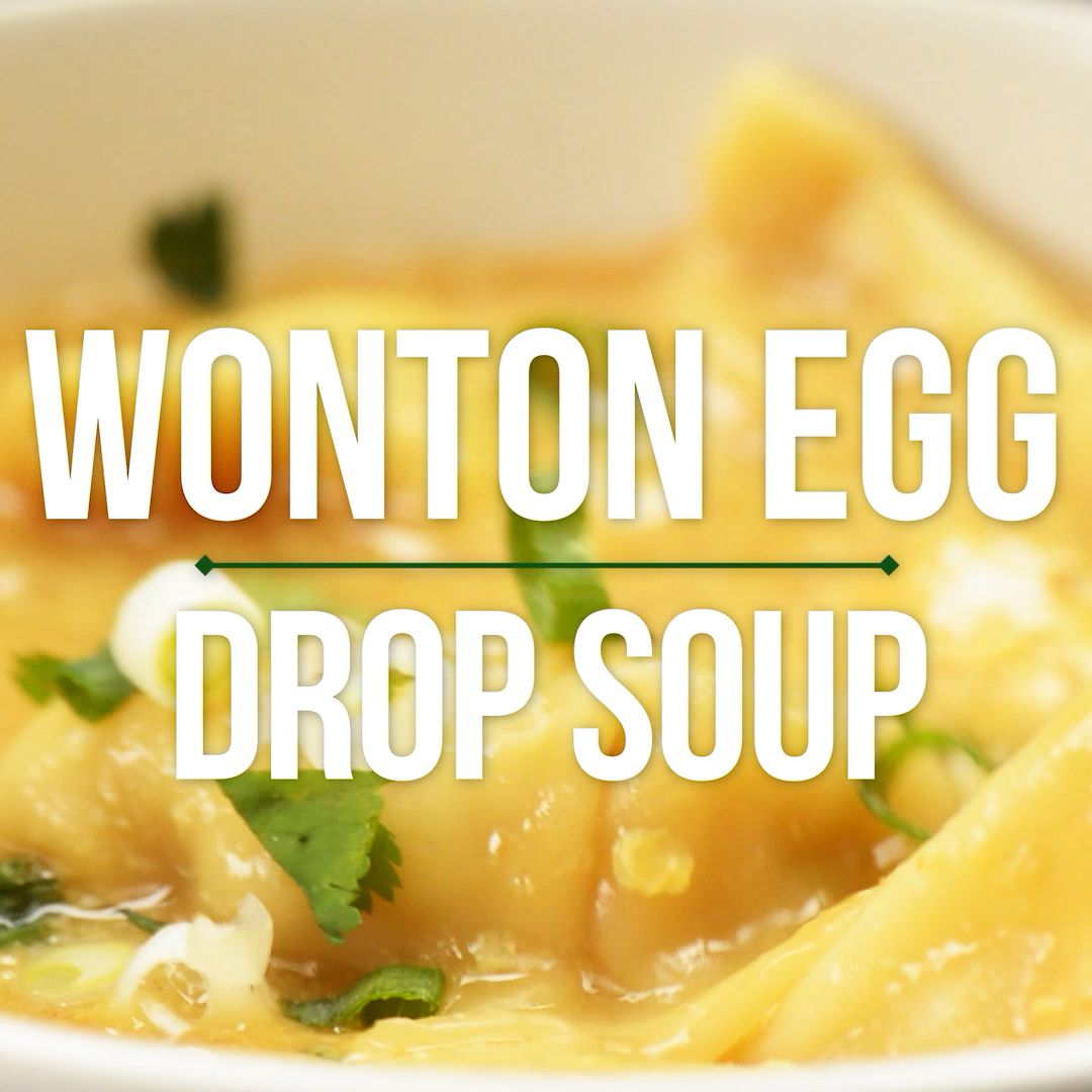 Egg Drop Wonton Soup This Egg Drop Wonton Soup is a twist on three of my FAVE Asian soups: hot and sour, egg drop, and wonton soup! Ready in about 15 minutes. Healthy and can be vegetarian!