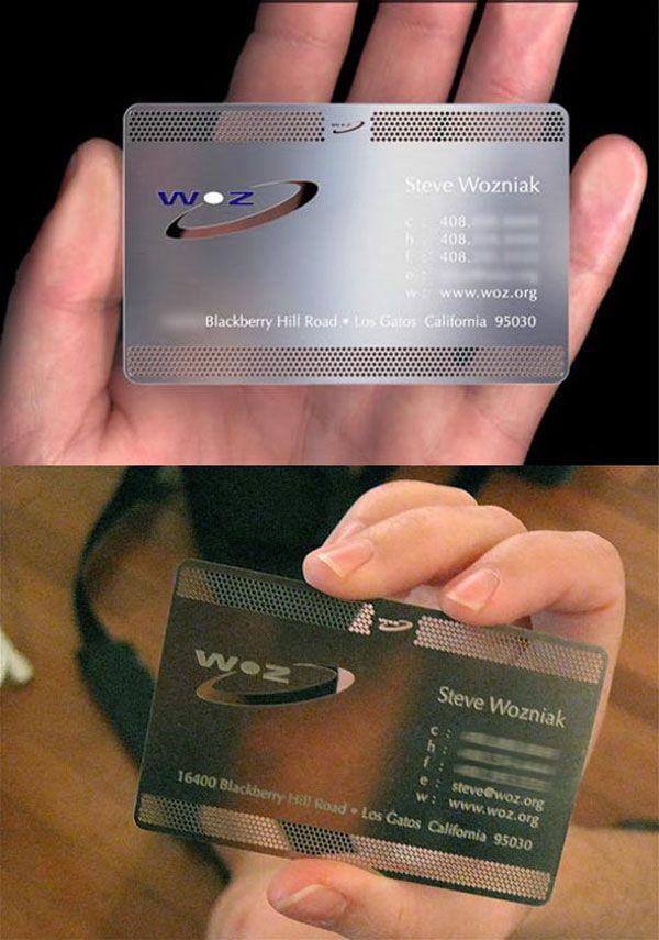 Steve Wozniak Business Cards | Business Cards | Pinterest | Steve ...