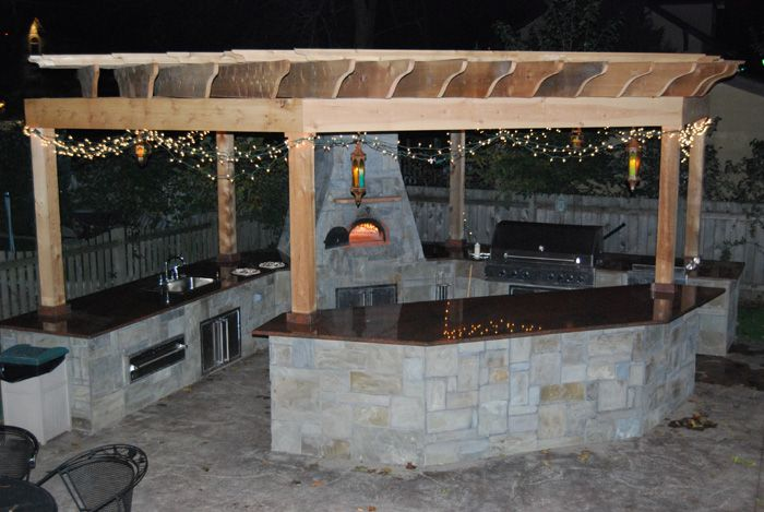 We Create Unique And Custom Outdoor Kitchens That Include Pizza Magnificent Outdoor Kitchen Charcoal Grill Review