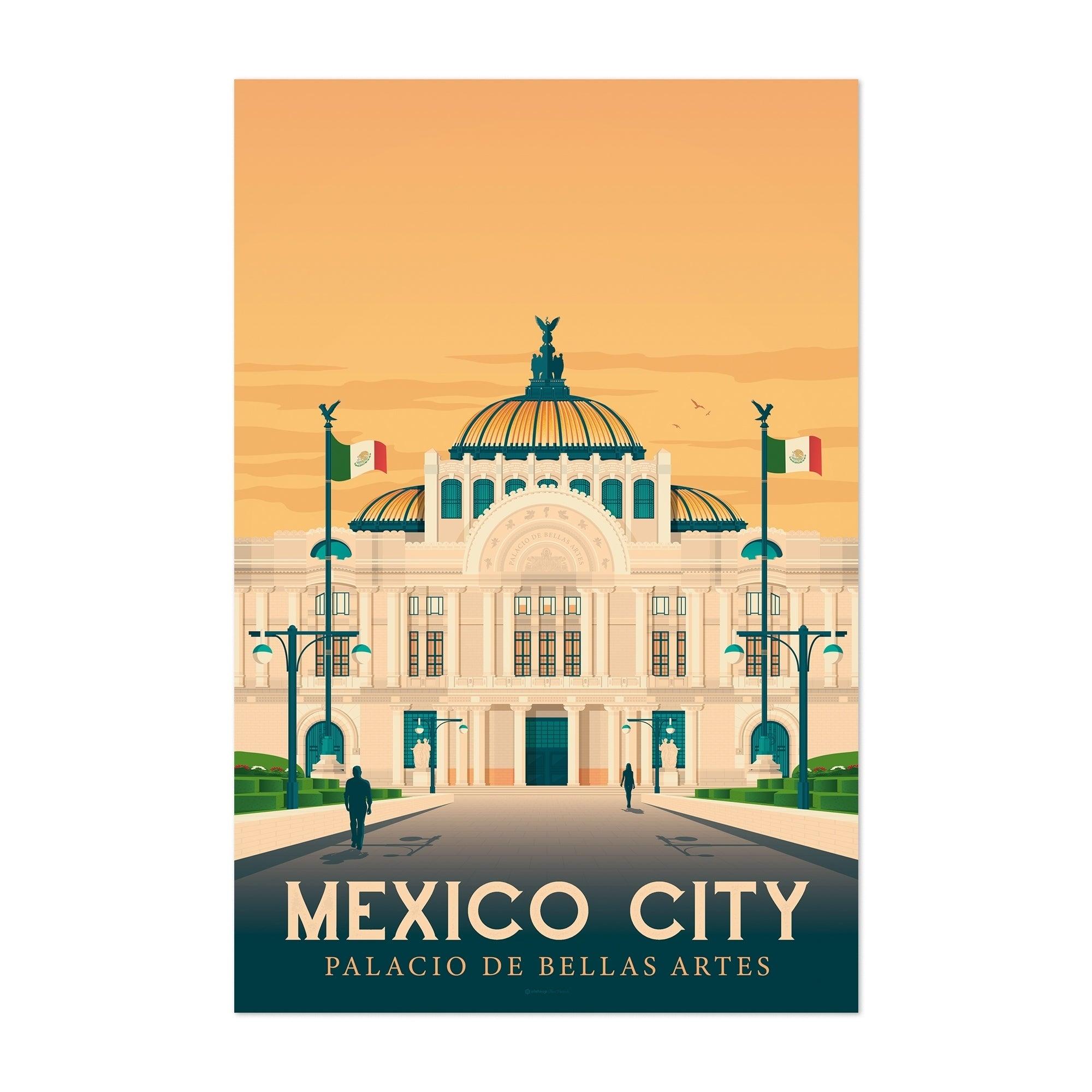 Noir Gallery Minimal Mexico City Travel Print Unframed Art Print Poster 40 X 60 Mexico City Travel Noir Gallery Travel Prints