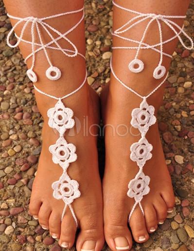#Milanoo.com Ltd          #Shoes Accessories        #Elegant #Flower #Crochet #Women's #Barefoot #Sandals                         Elegant Flower Crochet Women's Barefoot Sandals                               http://www.snaproduct.com/product.aspx?PID=5717562