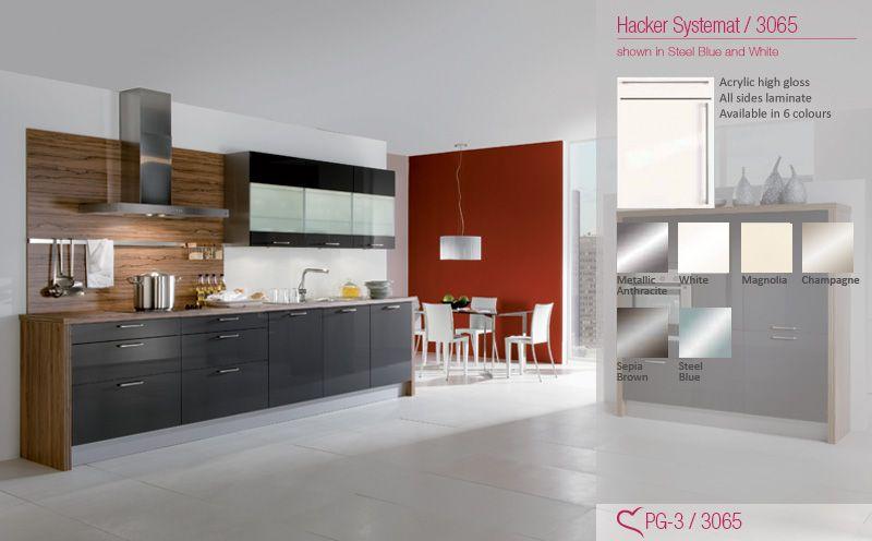 High Gloss Systemat Hacker Kitchen #Kitchens #Hacker #Liebekuchen
