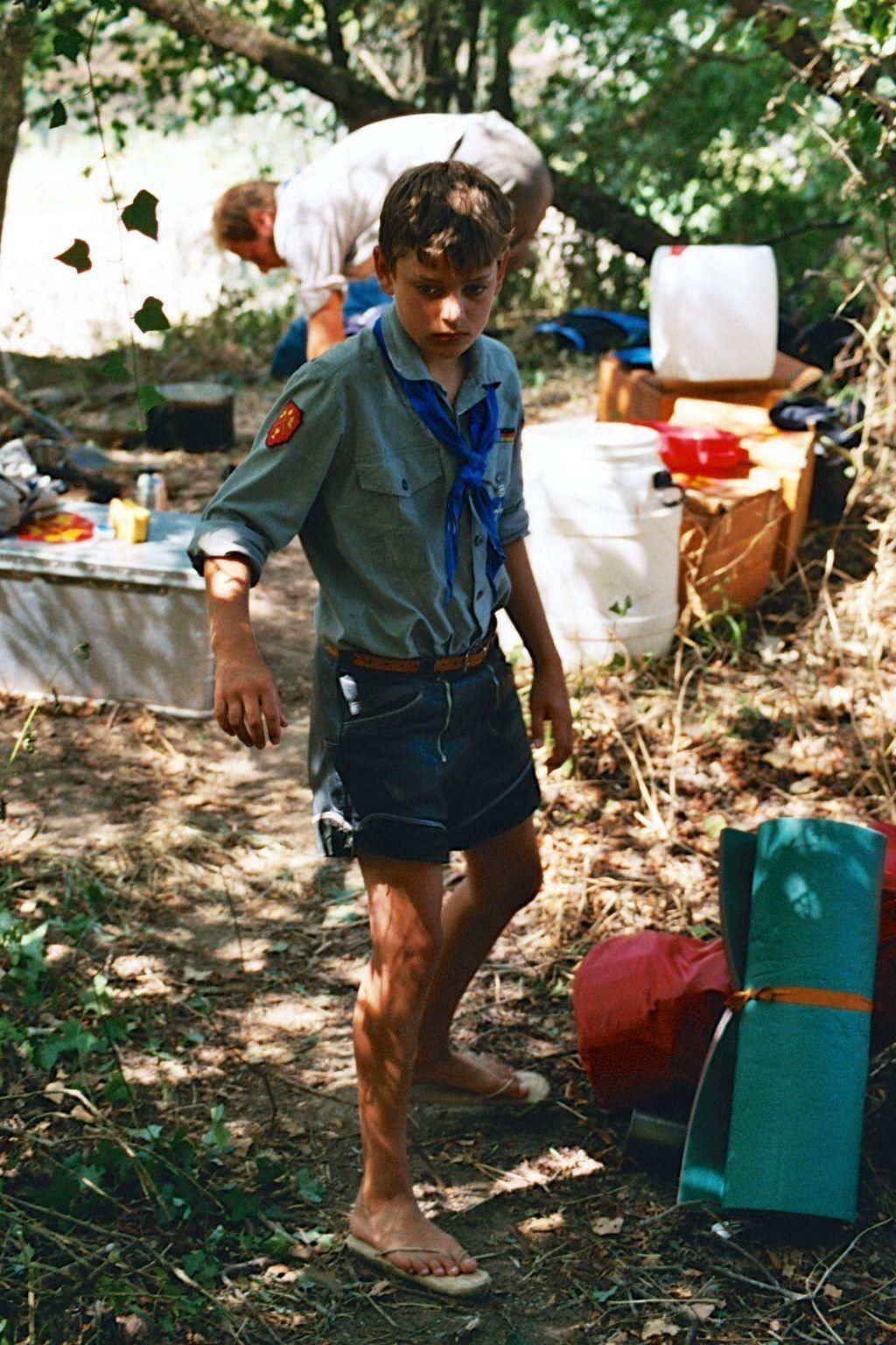 kanufahrt allier 2003 105 pfadfinder   boyscouts