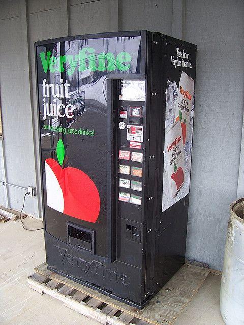 Veryfine Fruit Juice Vending Machine 80 S And 90 S Throwback