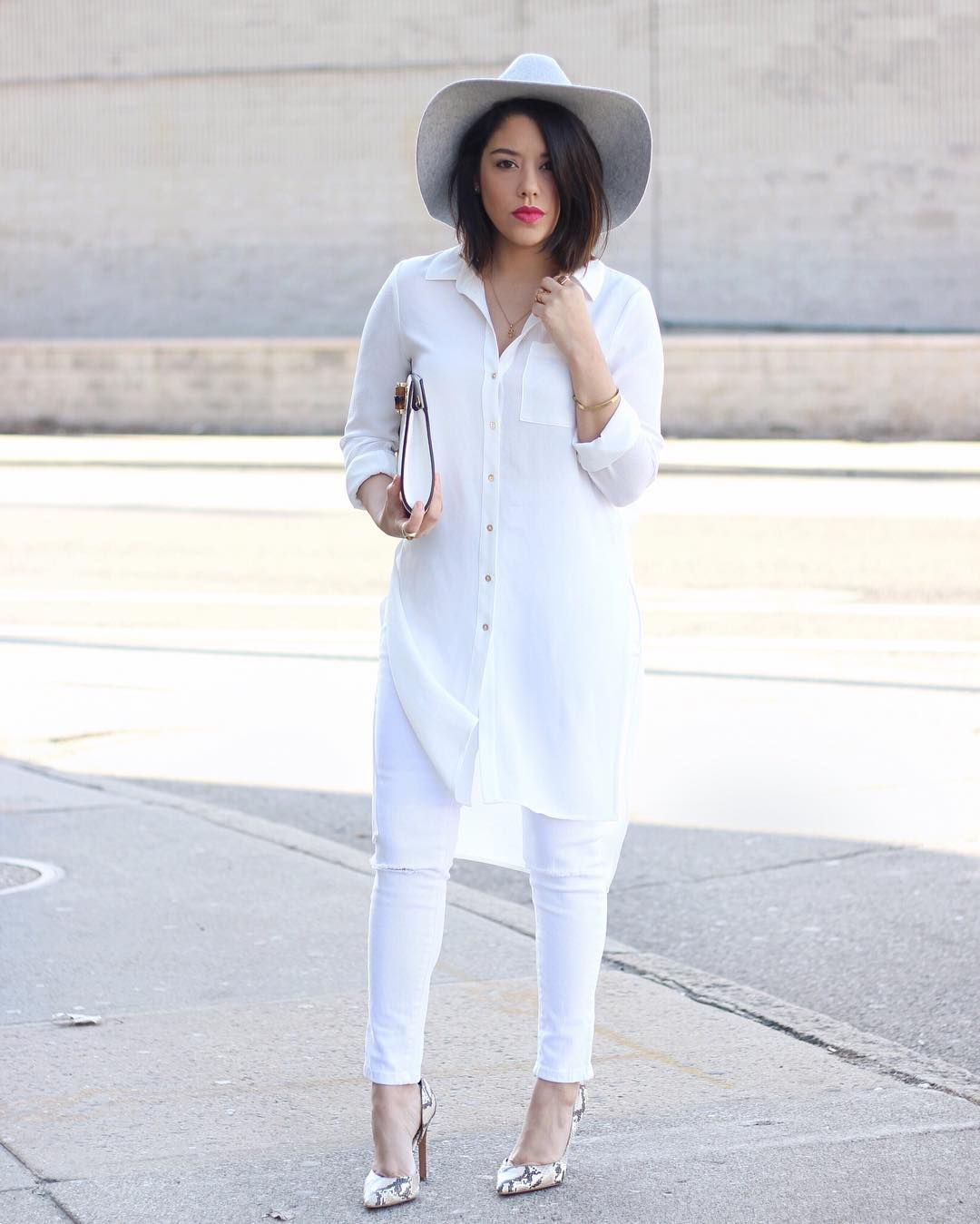 7 Outfits That Prove You Really Do Need a Pair of White Jeans in
