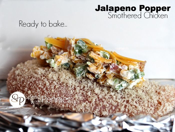Jalapeno Popper Smothered Chicken - Spend With Pennies