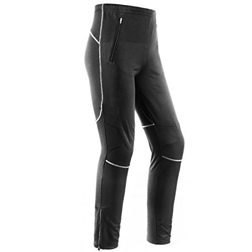 INBIKE Mens Winter Fleece Windproof Thermal Active Pants for Cycling Running Hiking Outdoor Multi Sports