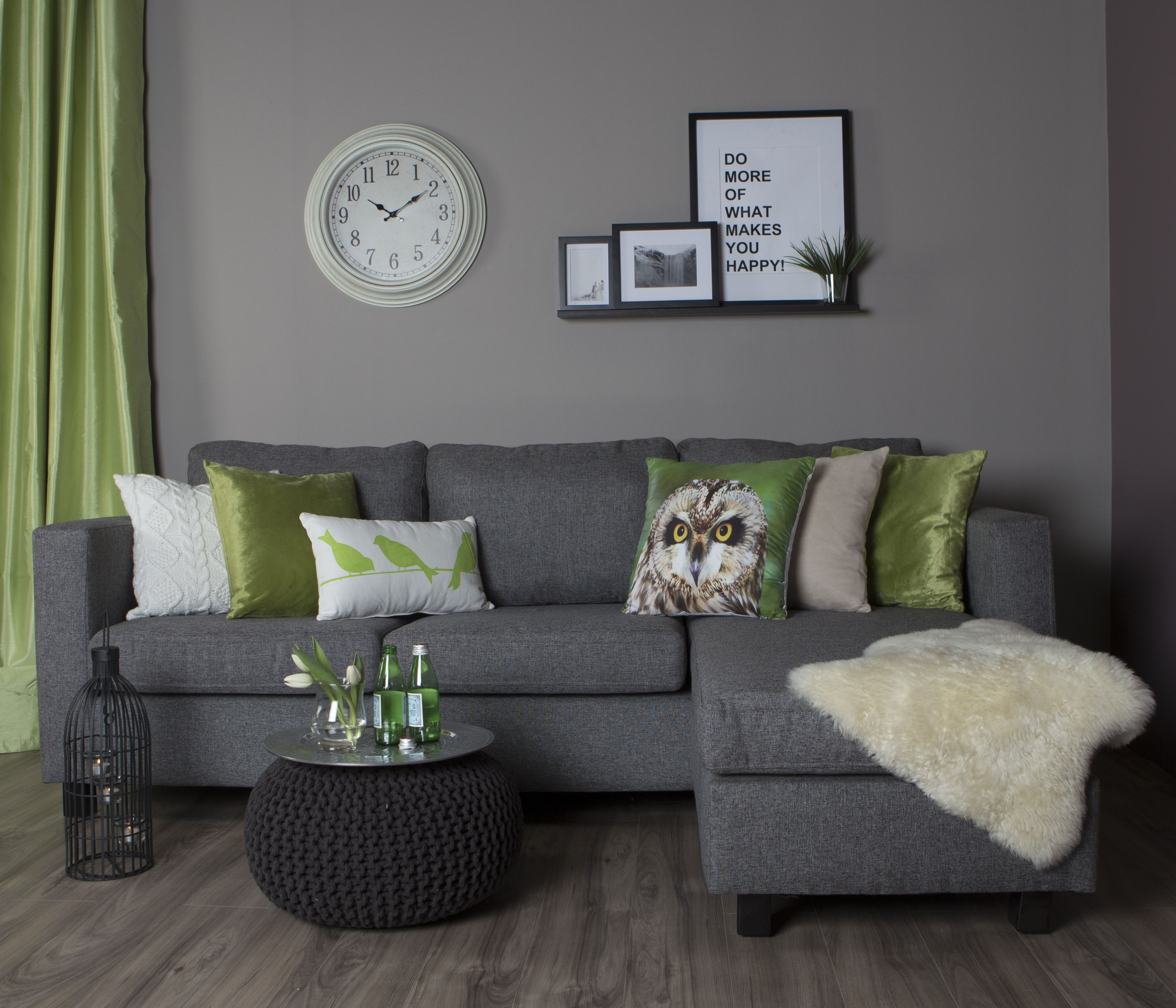 Pouf Used As A Sofa Table Home Decor Living Room Carpet Living Room Grey