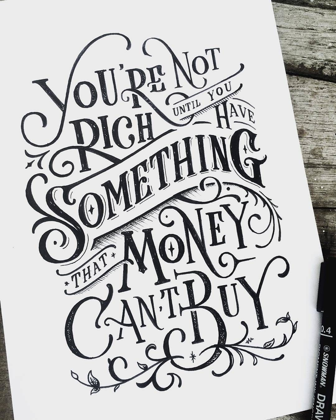 Hand Lettering, Typography Quotes, Hand