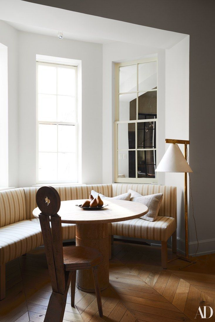 Window nook decorating ideas  a baywindow nook in the living room  dining room ideas