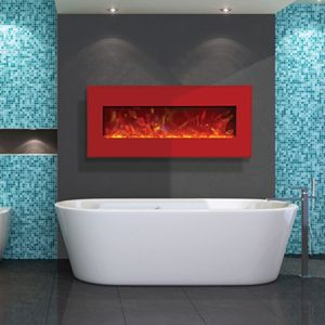 Awesome AWESOME Electric Fireplace! Could You Use This In Your Bathroom?