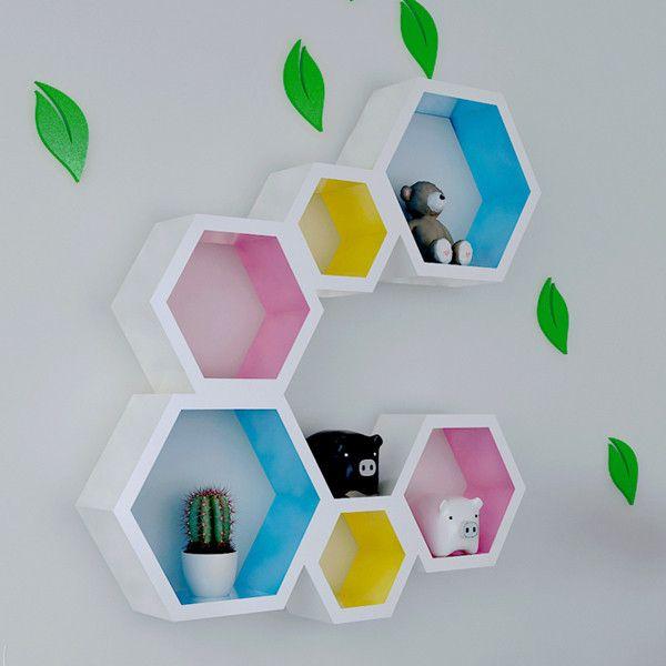 Ikea Hexagon Shelves Google Search Creative Bookshelves Diy
