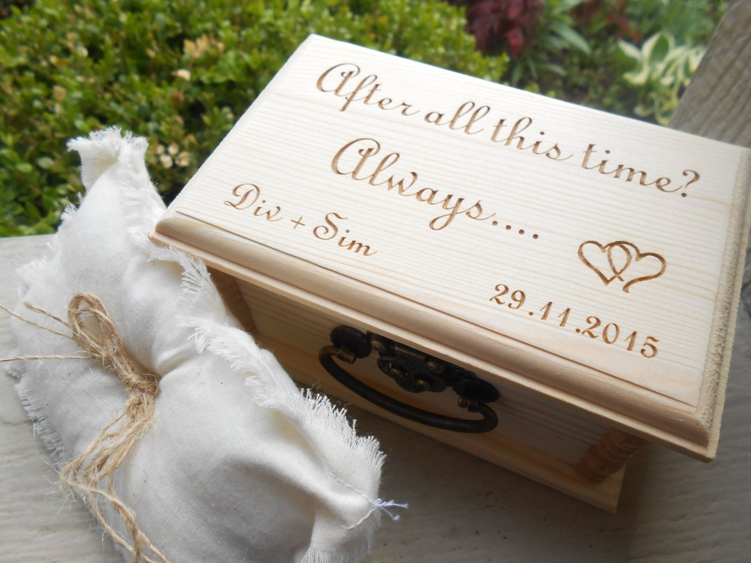 harry potter wedding bands Harry Potter Ring Box Pillow CHOOSE YOUR PILLOW Style After All This Time