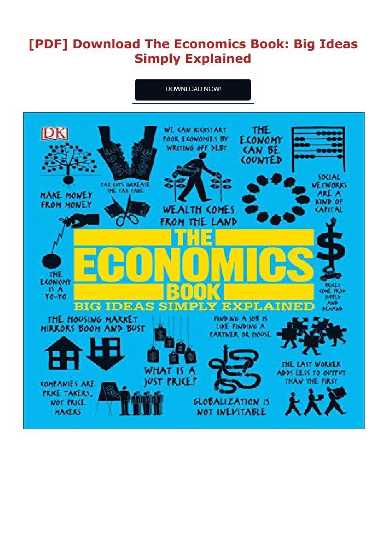 Download Pdf The Economics Book Big Ideas Simply Explained Ebook Pdf Download Read Audibook