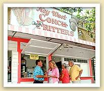 Key West Conch Fitter stand located in Mallory Square (Key West, Florida)