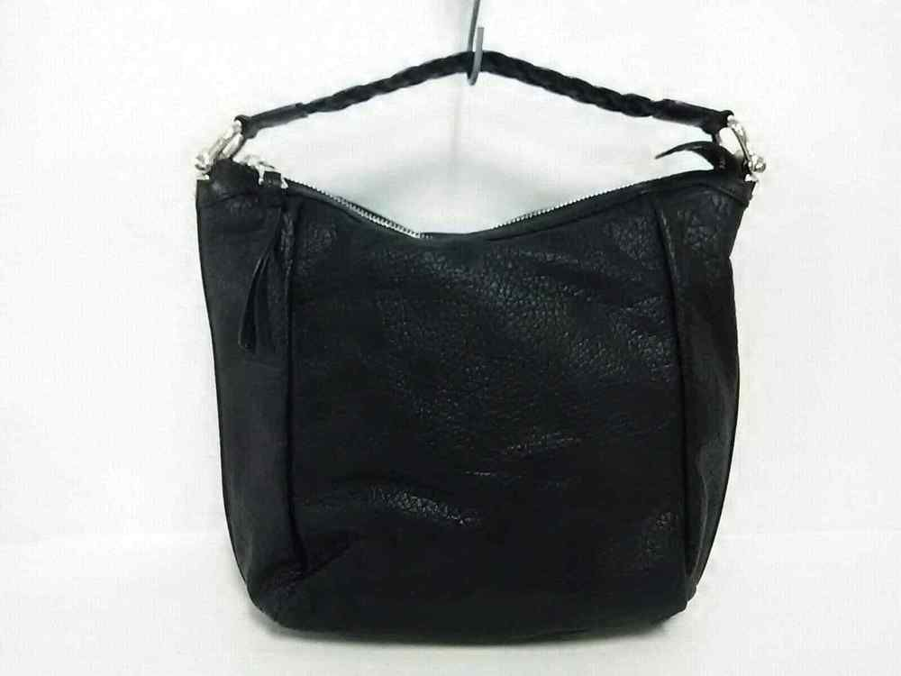 71359bb2225155 Auth GUCCI Bamboo 257090 Black Brown Leather Shoulder Bag (eBay Link ...