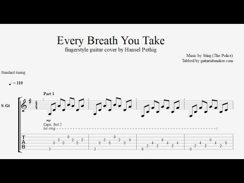 Every Breath You Take Tab Fingerstyle Guitar Tab Pdf Guitar Pro Youtube Fingerstyle Guitar Guitar Songs Guitar Sheet Music