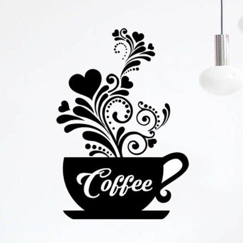 Arte de la pared vinilo adhesivo de té de Love – Juego de tazas de ...
