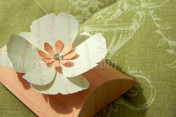 10 large flower design wedding favour pillow box by cherrywhistle
