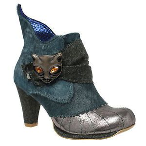 Miaow, Bottines Femme, Noir (Black Satin AQ), 42 EUIrregular Choice