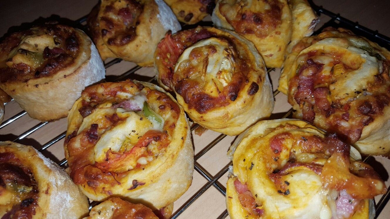 Pizza swirls made by Clares CakesnBakes