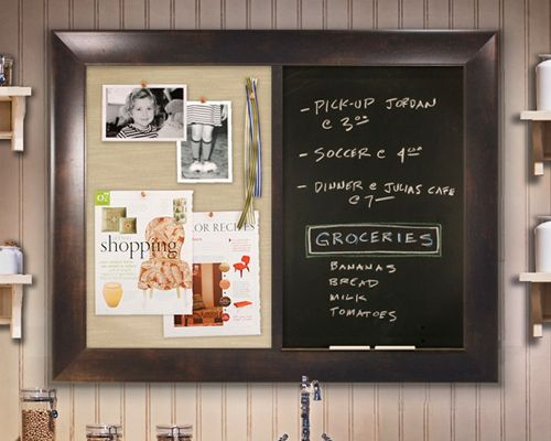 Magnetic cork board combo google search notice board for Kitchen cork board ideas