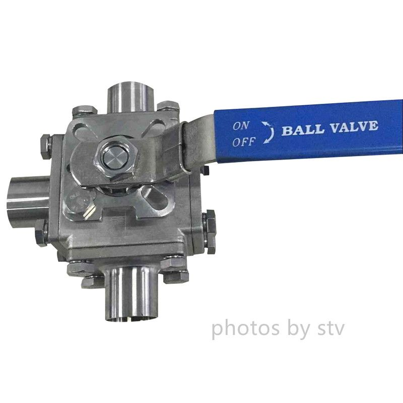 China Sanitary 3 Way T Type Ball Valve Manufacture Stv Provide Sanitary 3 Way T Type Ball Valve Total 304 Ptfe Cavity Filled Seat B With Images Valve Cavity Filling Ball