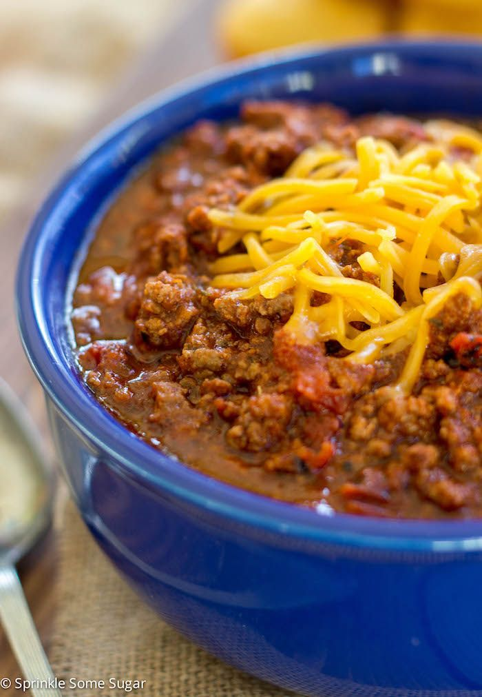 My Favorite Homemade Chili - Sprinkle Some Sugar