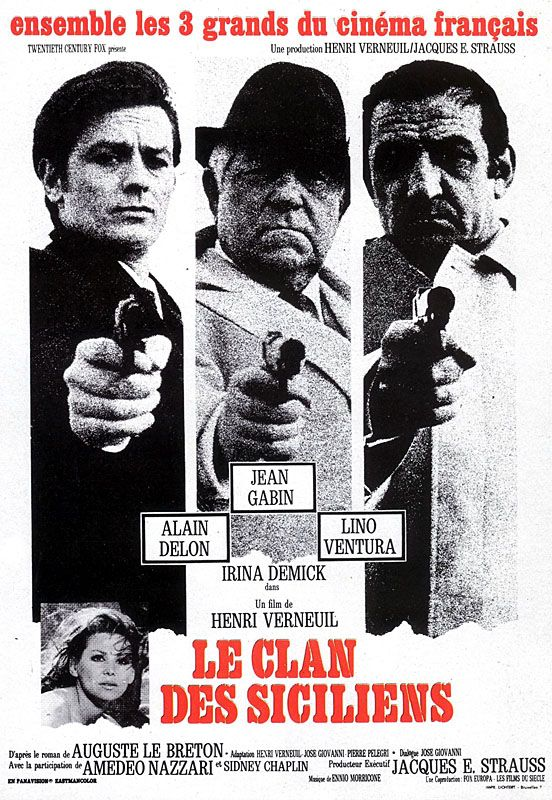 le clan des siciliens de henri verneuil 1969 affiches de films cin ma film et affiche film. Black Bedroom Furniture Sets. Home Design Ideas