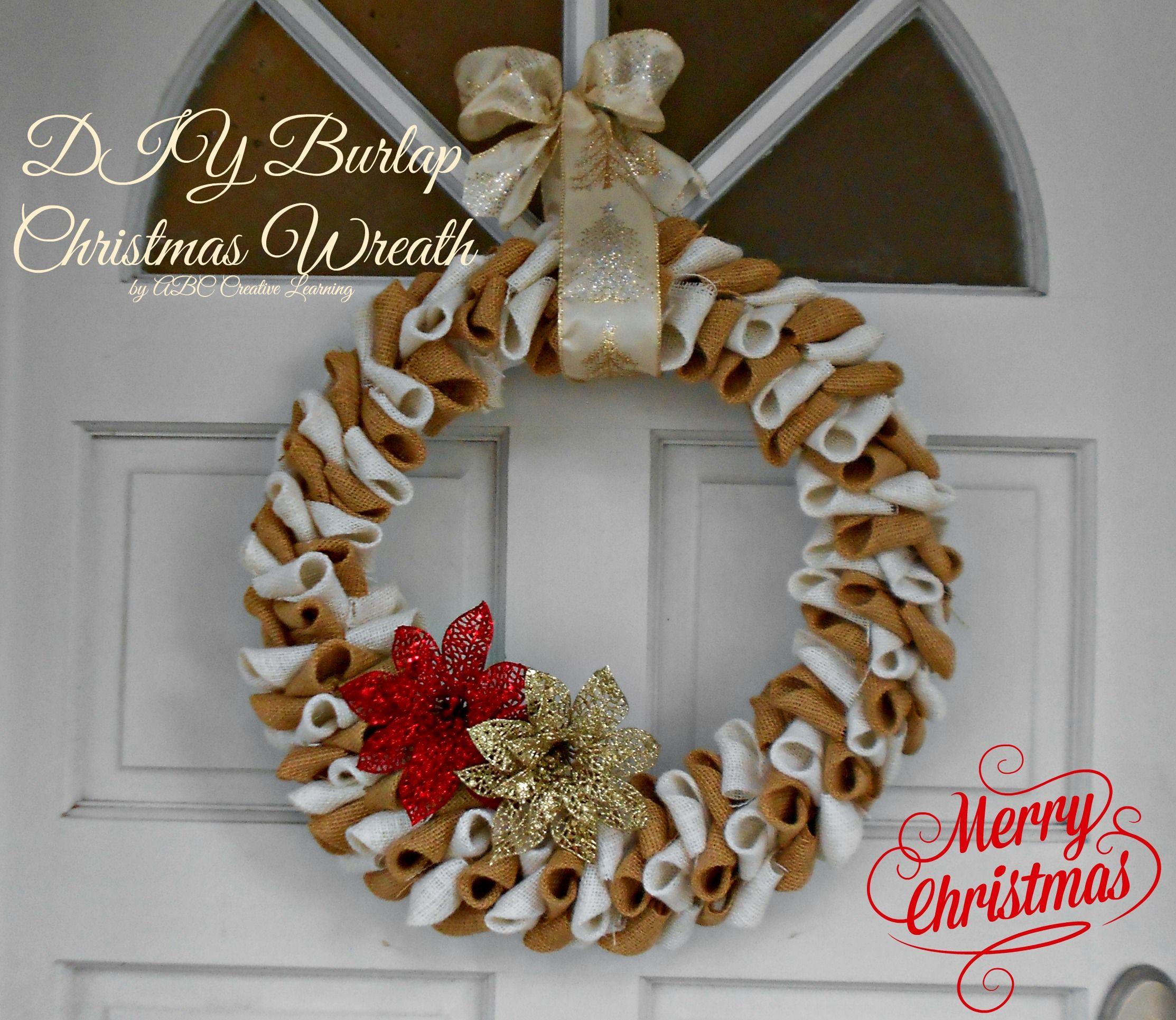 Burlap Christmas Wreath ABC Creative Learning