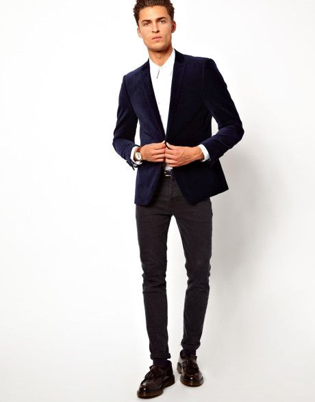 Mens Navy Blue Blazer - Trendy Clothes