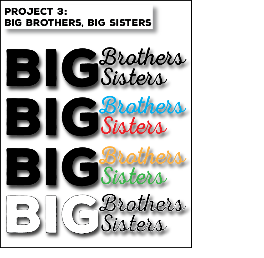 Noah Redding Page Layout SP2016 SCC Project 3 Big Brothers, Big Sisters Logos