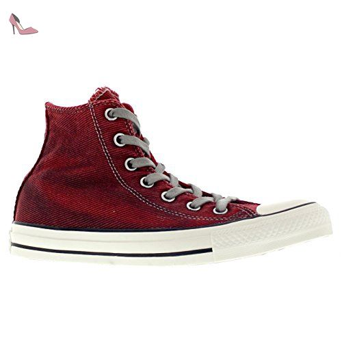 Converse Womens Chuck Taylor Hi Red Textile Trainers 36.5 EU - Chaussures  converse (*Partner