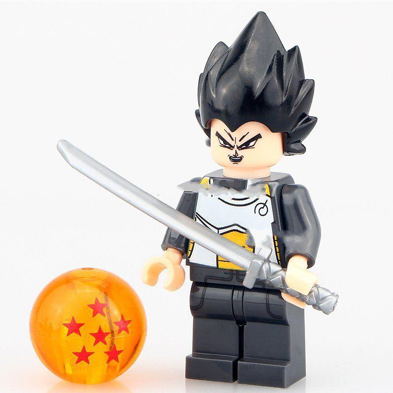 Dragon ball z minifigures vegeta anime cartoon lego