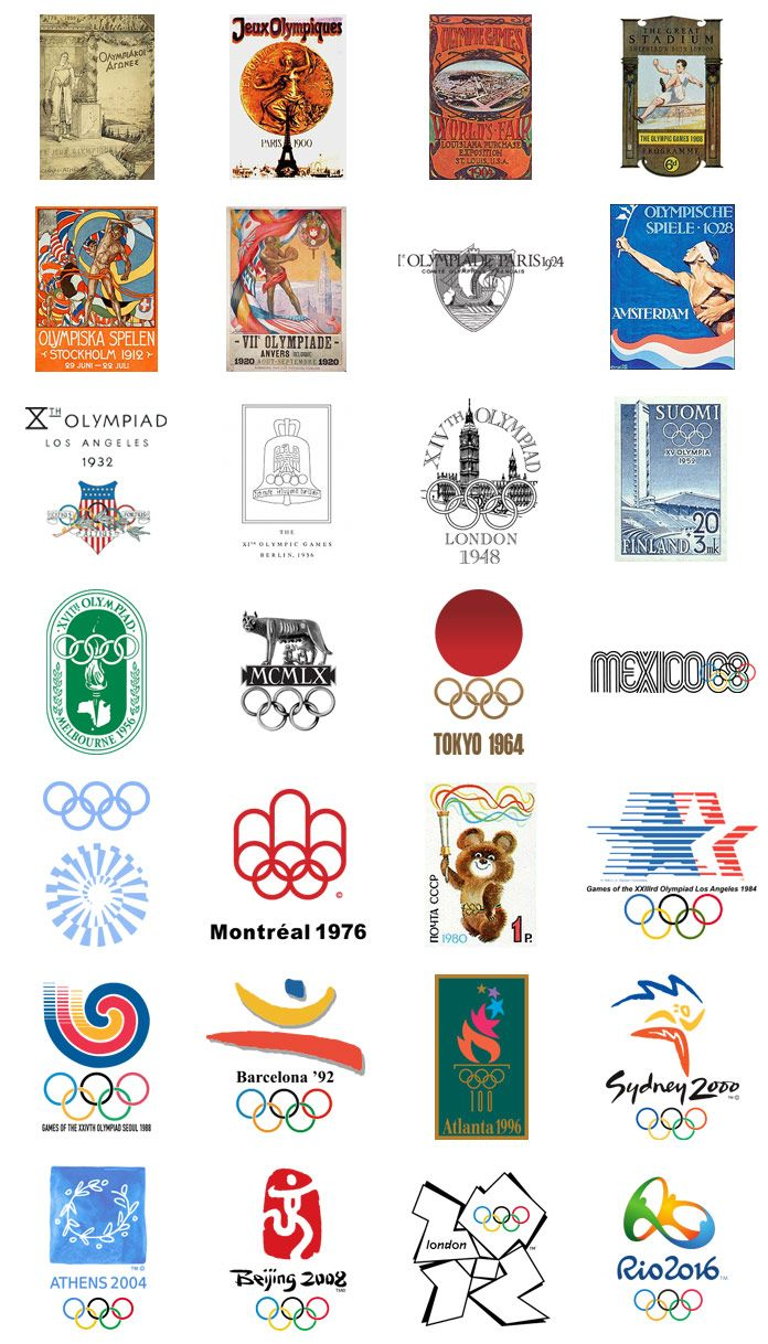 Summer Olympics Logos And Designs From 1896 2016 Summer Olympic Games Olympic Games Olympic Logo